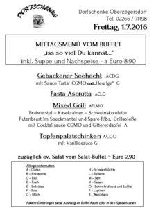 Buffet - Freitag