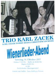 WIENERLIEDER-Abend mit dem Trio Karl Zacek