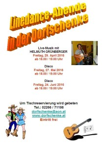Linedance-Abende 2016