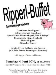 Ripperl-Buffet 2016
