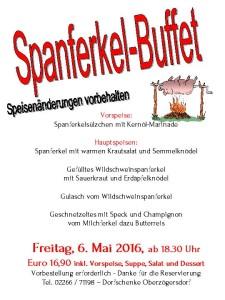 Spanferkel-Buffet 2016