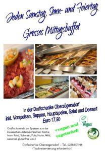 Großes Mittags-Buffet (11.00 - 14.00 Uhr)