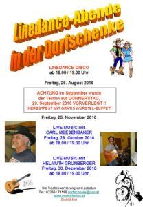 Linedance-Abende 2 - 2016