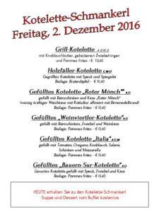 Kotelette-Schmankerl (mittags und abends)