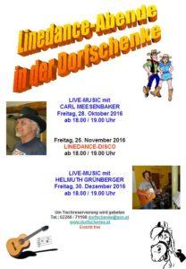 Country- und Linedance-Abend mit Carl Meesenbaker