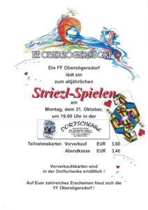 Striezl-Spiel'n der FF Oberzögersdorf