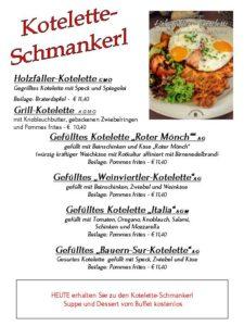 Kotelette-Schmankerl-Tag