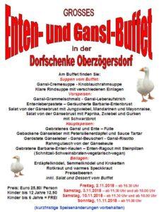 Enten- und Gansl-ABEND-Buffet