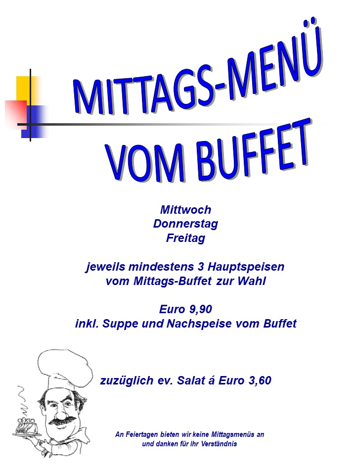 Mittags-Menü-Buffet