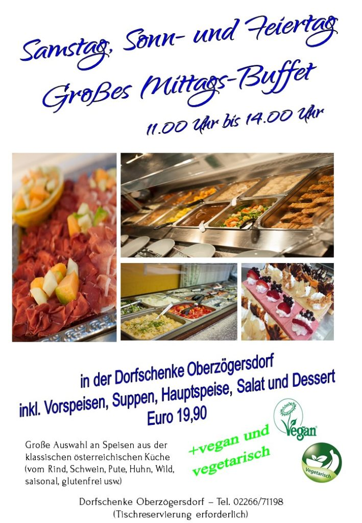 GROSSES Mittags-Buffet