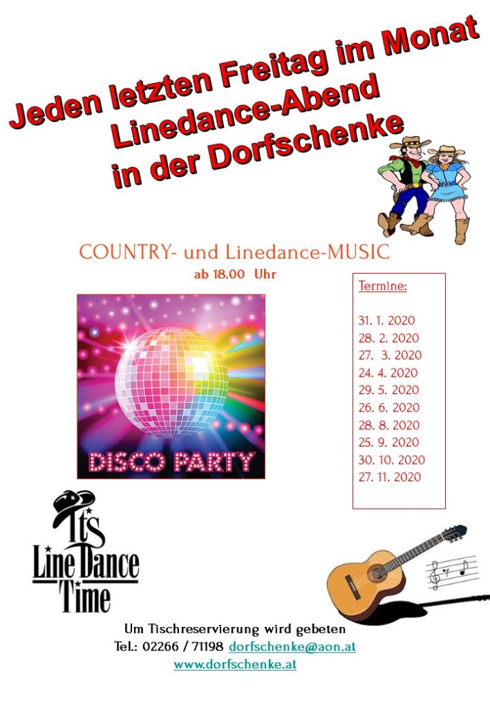 Linedance-Abend