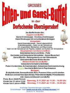 Enten- und Gansl-Buffet